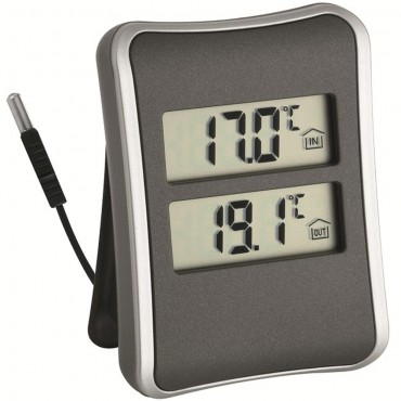 Digital Indoor/Outdoor Thermometer With Cabled Probe