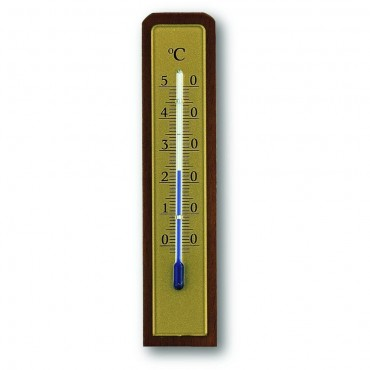 Indoor Walnut Thermometer 13.3cm