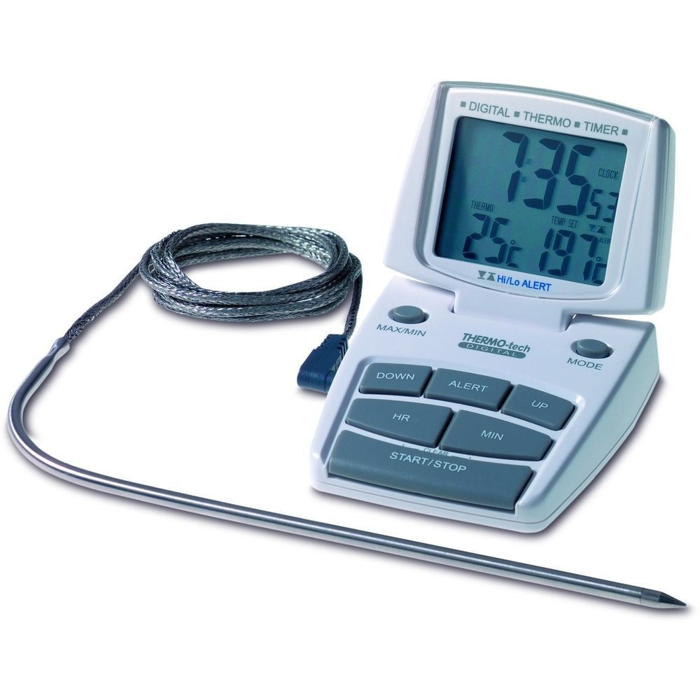 Digital Oven/Meat Thermometer with Timer & Alarm