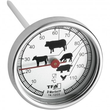 Meat Thermometer sits in Oven