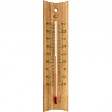 Bamboo Indoor/Outdoor Thermometer 20cm
