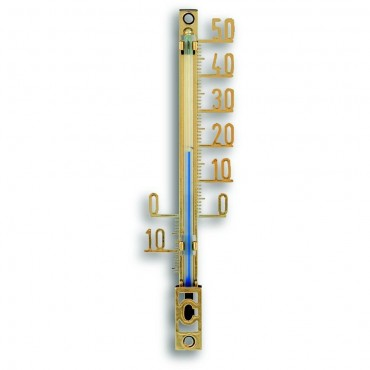 Outdoor Gold Plastic Thermometer 10.4cm
