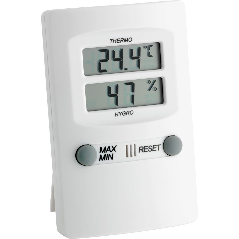 digital thermo hygrometer with min max function. Black Bedroom Furniture Sets. Home Design Ideas