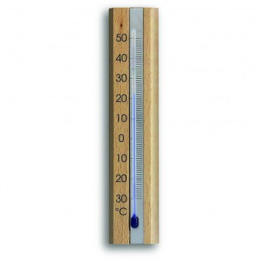 Indoor Natural Beech Thermometer 16.5cm