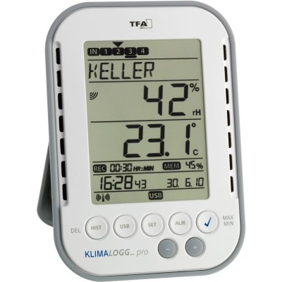 Professional Temperature & Humidity Data Logger (With USB Cable)