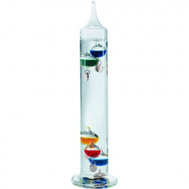 Multi-Coloured Galileo Thermometer 33cm (With Silver Tags)