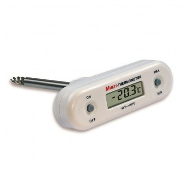 T-Shaped Waterproof Digital Thermometer with 120mm Screw Probe Tip