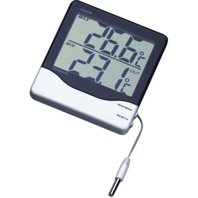 Digital Min Max Thermometer Cabled with Large Display