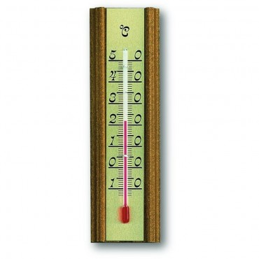 Indoor Oak Thermometer 13.8cm
