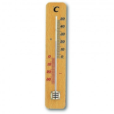 Simple Indoor Beech Thermometer 18cm