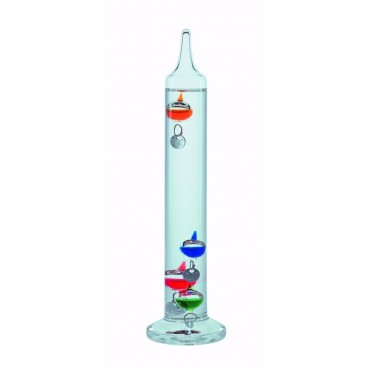 Multi-Coloured Galileo Thermometer 18cm (With Silver Tags)