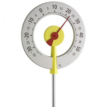 Big Yellow Lollipop Garden Thermometer 1.1m