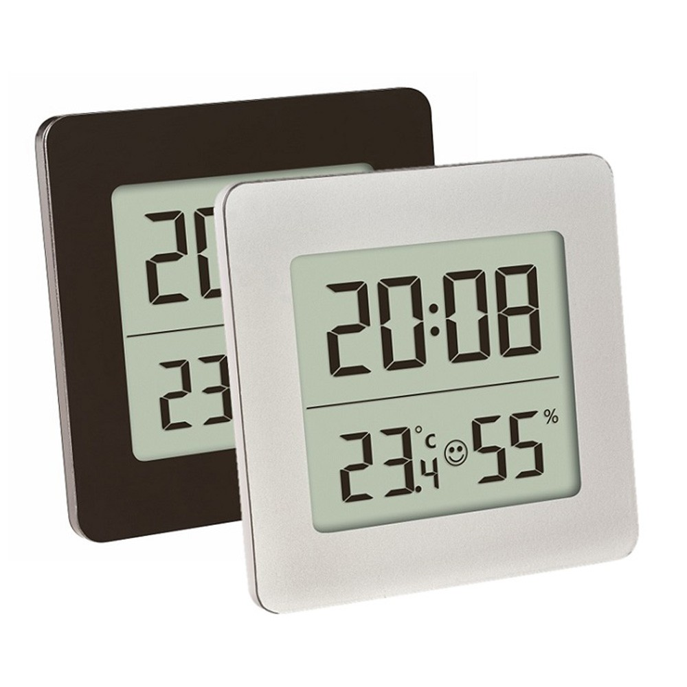 digital thermo hygrometer with hourly chime. Black Bedroom Furniture Sets. Home Design Ideas