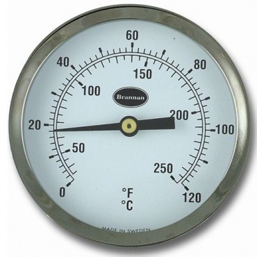 Clip On Pipe Thermometer 65mm